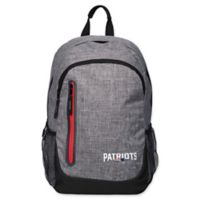 NFL New England Patriots 18-Inch Laptop Backpack in Heather Grey
