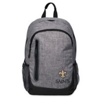 NFL New Orleans Saints 18-Inch Laptop Backpack in Heather Grey