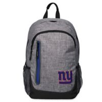NFL New York Giants 18-Inch Laptop Backpack in Heather Grey