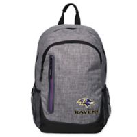 NFL Baltimore Ravens 18-Inch Laptop Backpack in Heather Grey