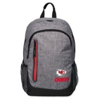 NFL Kansas City Chiefs 18-Inch Laptop Backpack in Heather Grey