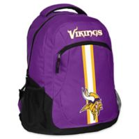 NFL Minnesota Vikings 18-Inch Action Stripe Backpack