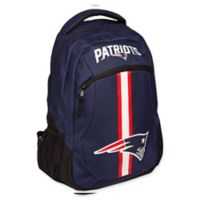 NFL New England Patriots 18-Inch Action Stripe Backpack