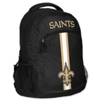 NFL New Orleans Saints 18-Inch Action Stripe Backpack