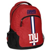 NFL New York Giants 18-Inch Action Stripe Backpack