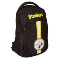 NFL Pittsburgh Steelers 18-Inch Action Stripe Backpack