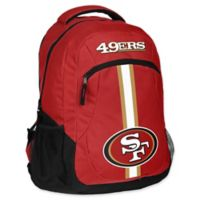NFL San Francisco 49ers 18-Inch Action Stripe Backpack