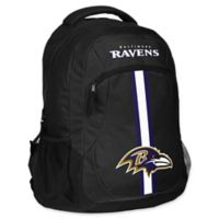 NFL Baltimore Ravens 18-Inch Action Stripe Backpack