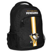 NHL Pittsburgh Penguins 18-Inch Action Stripe Backpack