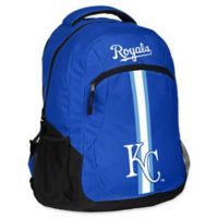 MLB Kansas City Royals 18-Inch Action Stripe Backpack