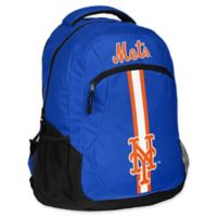 MLB New York Mets 18-Inch Action Stripe Backpack
