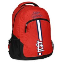 MLB St. Louis Cardinals 18-Inch Action Stripe Backpack
