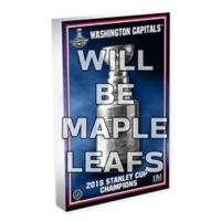 NHL Toronto Maple Leafs 13-Time Stanley Cup Champions 3D Art Block