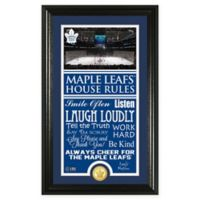 NHL Toronto Maple Leafs House Rules Coin Photo Mint