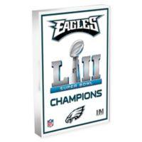 NFL Philadelphia Eagles Super Bowl 52 Championship 3D Art Block