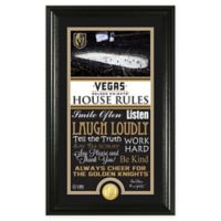 NHL Las Vegas Golden Knights House Rules Bronze Coin Photo Mint