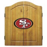 NFL San Francisco 49ers Dartboard and Cabinet Set