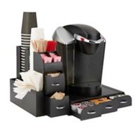 Mind Reader Combine 2-Piece Coffee Drawer and Condiment Caddy in Black