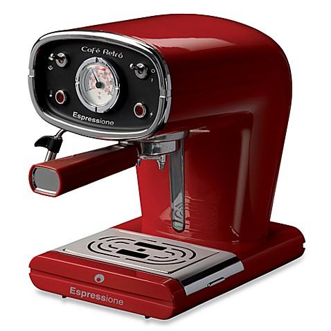 Espressione Red Cafe Retro Espresso Machine Bed Bath