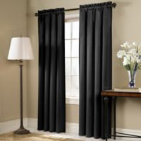 Blackstone 84-Inch Rod Pocket Room Darkening Window Curtain Panel in Black