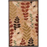 Surya Portera Floral 5' x 7'6 Indoor/Outdoor Area Rug in Brown/Green