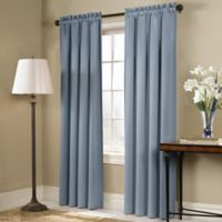 Blackstone 63-Inch Rod Pocket Room Darkening Window Curtain Panel in Blue