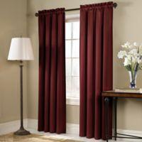Blackstone 63-Inch Rod Pocket Room Darkening Window Curtain Panel in Brick