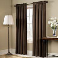 Blackstone 63-Inch Rod Pocket Room Darkening Window Curtain Panel in Chocolate