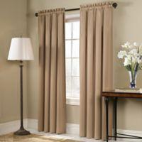Blackstone 63-Inch Rod Pocket Room Darkening Window Curtain Panel in Gold