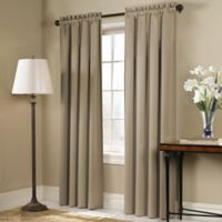 Blackstone 45-Inch Rod Pocket Room Darkening Window Curtain Panel in Taupe