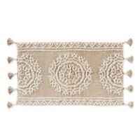 """Medallia 24"""" x 40"""" Handcrafted Bath Mat in Natural"""