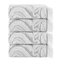 Enchante Home® Laina 4-Piece Bath Towel Set in Silver