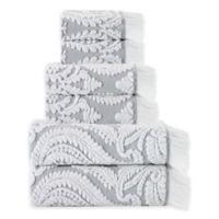 Enchante Home® Laina 6-Piece Bath Towel Set in Silver