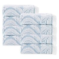 Enchante Home® Laina Hand Towel in Turquoise (Set of 8)