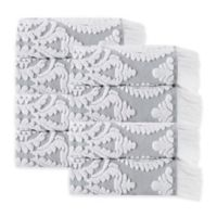 Enchante Home® Laina Hand Towel in Silver (Set of 8)