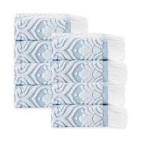 Enchante Home® Laina Washcloth in Turquoise (Set of 8)