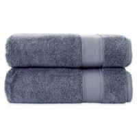 Grund Pinehurst 2-Piece Turkish Organic Cotton Hand Towel Set in Slate Grey