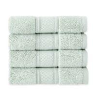 Grund Pinehurst 4-Piece Turkish Organic Cotton Washcloth Towel Set in Sage