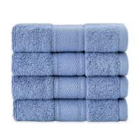 Grund Pinehurst 4-Piece Turkish Organic Cotton Washcloth Towel Set in Sea Blue