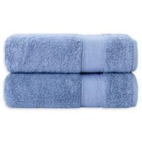 Grund Pinehurst Turkish Organic Cotton Bath Sheet in Sea Blue