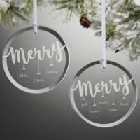 Merry Everything Engraved Family Christmas Ornament