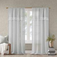 Madison Park Brynn 63-Inch Rod Pocket Window Curtain Panel in Grey