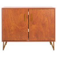 Safavieh 2-Door Modular TV Unit in Natural/Gold