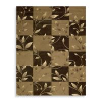 Nourison Contours 7-Foot 3-Inch x 9-Foot 3-Inch Vine Rug in Brown