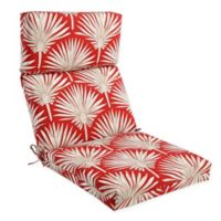 Outdoor High Back Chair Cushion in Spice Palm