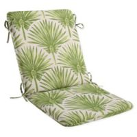 Print Indoor/Outdoor Mid Back Cushion in Green Palm