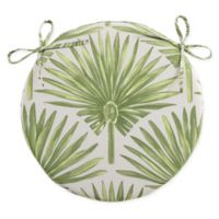 Destination Summer Indoor/Outdoor Round Bistro Chair Cushion in Green