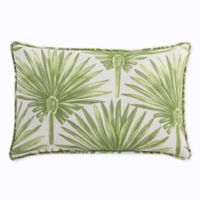 Print Indoor/Outdoor 13-Inch x 20-Inch Throw Pillow in Green Palm