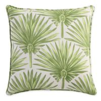 Print 20-Inch Square Throw Pillow in Green Palm