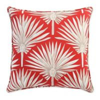 Print 20-Inch Square Throw Pillow in Red Palm